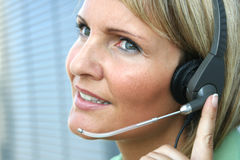 Mujer de negocios - llamada y teléfono Foto de archivo