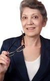 Mujer de negocios mayor Imágenes de archivo libres de regalías