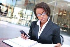 Mujer de negocios negra Fotos de archivo libres de regalías