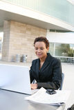 Mujer de negocios negra Fotos de archivo