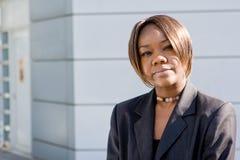 Mujer de negocios negra del afroamericano Imagenes de archivo