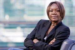 Mujer de negocios negra del afroamericano Foto de archivo libre de regalías