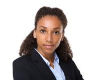 Mujer de negocios negra joven fotografía de archivo