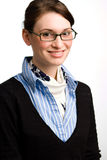 Mujer de negocios o adolescente confidente Imagen de archivo