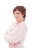 Mujer de negocios pensativa Imagen de archivo