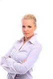 Mujer de negocios positiva Fotos de archivo libres de regalías