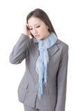 Mujer de negocios preocupante Fotos de archivo libres de regalías