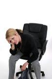 Mujer de negocios preocupante Imágenes de archivo libres de regalías