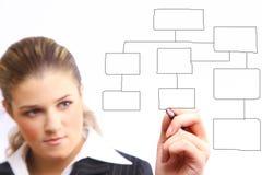 Mujer de negocios que diseña un plan Imagen de archivo libre de regalías