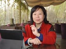 Mujer de negocios que habla Imágenes de archivo libres de regalías