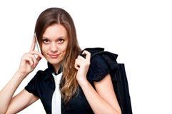 Mujer de negocios que habla en el teléfono Foto de archivo