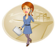 Mujer de negocios que habla en el teléfono elegante Fotografía de archivo