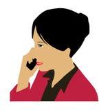 Mujer de negocios que invita al teléfono Fotos de archivo