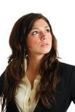 Mujer de negocios que mira lejos con la visión del asunto foto de archivo libre de regalías