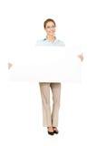Mujer de negocios que presenta su producto Fotografía de archivo