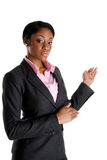 Mujer de negocios que realiza la presentación imágenes de archivo libres de regalías