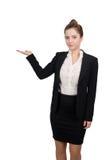 Mujer de negocios que señala la mano Foto de archivo libre de regalías
