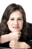 Mujer de negocios relajada Imágenes de archivo libres de regalías