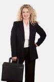 Mujer de negocios rubia caucásica imágenes de archivo libres de regalías