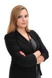 Mujer de negocios rubia confidente Imagen de archivo libre de regalías