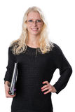 Mujer de negocios rubia joven Imágenes de archivo libres de regalías