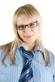 Mujer de negocios rubia sonriente Fotos de archivo