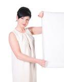 Mujer de negocios seria con el espacio en blanco Imagen de archivo libre de regalías
