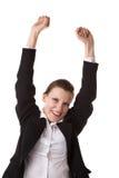 Mujer de negocios sonriente. Foto de archivo libre de regalías