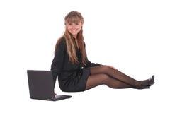 Mujer de negocios sonriente Fotografía de archivo