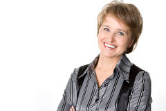 Mujer de negocios sonriente Imagen de archivo