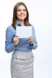 Mujer de negocios sonriente Foto de archivo libre de regalías