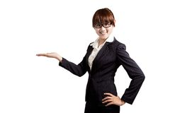 Mujer de negocios sonriente asiática Imágenes de archivo libres de regalías
