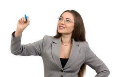 Mujer de negocios sonriente hermosa Fotografía de archivo libre de regalías