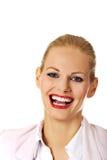 Mujer de negocios sonriente hermosa elegante joven Fotos de archivo libres de regalías