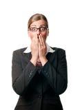 Mujer de negocios sorprendida imagen de archivo