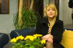 Mujer de negocios sorprendida Imagenes de archivo