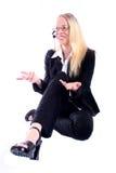 Mujer de negocios - Spoksewoman corporativo Imagen de archivo