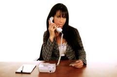 Mujer de negocios Tele_Shopping fotografía de archivo libre de regalías