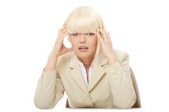 Mujer de negocios tensionada Imagenes de archivo