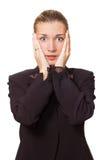 Mujer de negocios tensionada Fotos de archivo libres de regalías