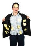 Mujer de negocios tensionada Foto de archivo libre de regalías