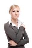 Mujer de negocios tranquila joven foto de archivo
