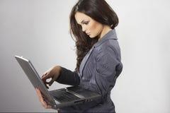 Mujer de negocios triguena fotografía de archivo