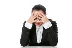 Mujer de negocios triste imagen de archivo
