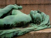 Mujer de oro del monumento, Luxemburgo Fotos de archivo