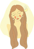 Mujer de pelo largo Imagen de archivo libre de regalías