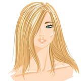 Mujer de pelo largo Foto de archivo libre de regalías