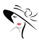 Mujer de pelo largo en sombrero
