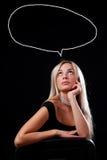 Mujer de pensamiento Imagen de archivo libre de regalías