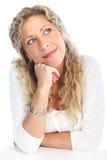 Mujer de pensamiento Imágenes de archivo libres de regalías